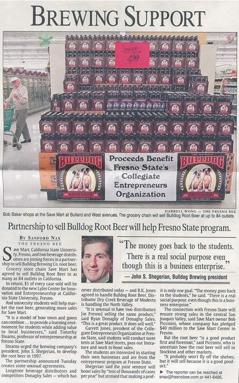 Fresno Bee Business Section article